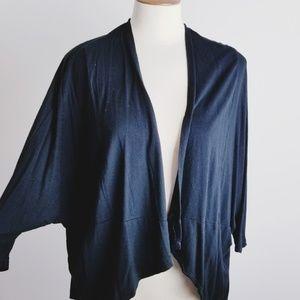 Cotton On bat wing black cardigan sweater small